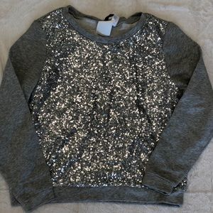 Silver sequined sweatshirt